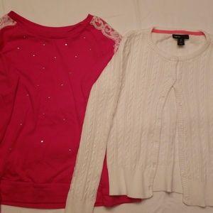 Shirt & sweater  size 8